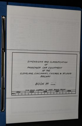 DIMENSIONS AND CLASSIFICATION OF PASSENGER CAR EQUIPMENT OF THE CLEVELAND, CINCINNATI, CHICAGO &...