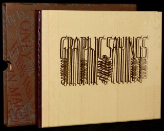 GRAPHIC SAYINGS [DELUXE COPY]. SPECIAL PRESS David Kindersley