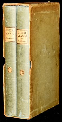 OBERMANN: SELECTIONS FROM LETTERS TO A FRIEND. (2 Volumes; Slipcase). Eitenne Pivert de Senancourt.