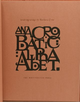 AN ACROBATIC ALPHABET: TWENTY SIX WOOD ENGRAVINGS