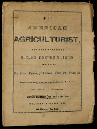 AMERICAN AGRICULTURIST. DESIGNED TO IMPROVE ALL CLASSES INTERESTED IN SOIL CULTURE. DECEMBER...