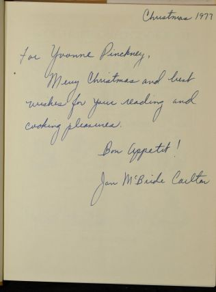 THE OLD-FASHIONED COOKBOOK (Signed)