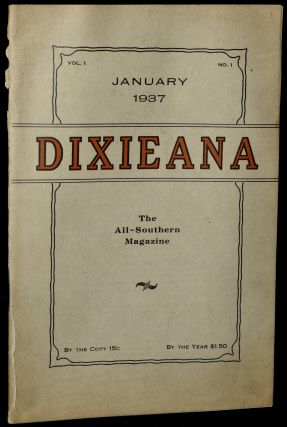 DIXIEANA. JANUARY 1937. VOL. 1, No. 1