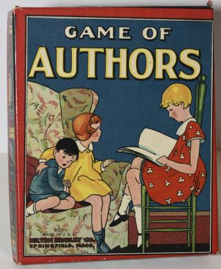 GAME OF AUTHORS. MILTON BRADLEY CO. No. 4051