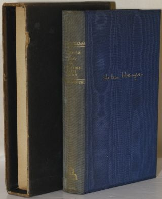 LETTERS TO MARY (Signed). Catherine Hayes Brown | Helen Hayes | Mary MacArthur.