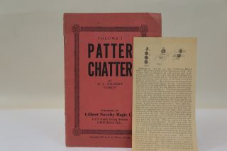 PATTER CHATTER. VOLUME I. lair, L. Gilbert