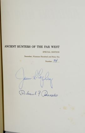ANCIENT HUNTERS OF THE FAR WEST (Limited; Slipcase; Signed)