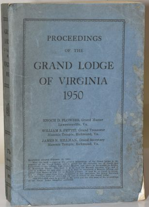 PROCEEDINGS OF THE MOST WORSHIPFUL GRAND LODGE OF ANCIENT, FREE AND ACCEPTED MASONS OF THE...