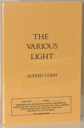 THE VARIOUS LIGHT. Alfred Corn