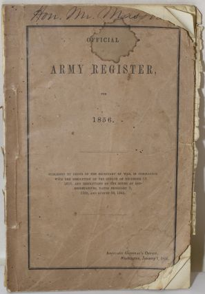 OFFICIAL ARMY REGISTER FOR 1856