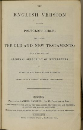 LA SAINTE BIBLE | THE ENGLISH VERSION OF THE POLYGLOTT BIBLE CONTAINING THE OLD AND NEW TESTAMENTS ...