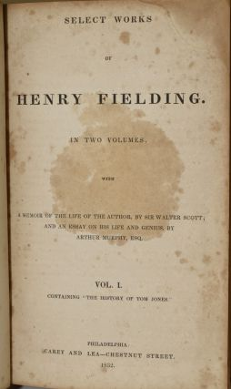 SELECT WORKS OF HENRY FIELDING. IN TWO VOLUMES. VOL. I & II. (TWO VOLUMES)