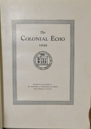 THE COLONIAL ECHO. 1920.