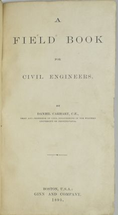 A FIELD BOOK FOR CIVIL ENGINEERS
