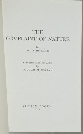 THE COMPLAINT OF NATURE.