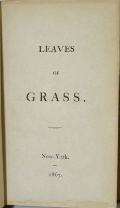 "LEAVES OF GRASS [INCLUDES ""SONGS BEFORE PARTING""]"