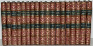 COOPERS NOVELS [18 Volumes; Fine Bindings] TWO ADMIRALS; RED MYERS; MARK'S REEF; RED ROVER;...