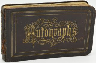 AUTOGRAPH ALBUM] LYDIA A. EDWARDS. 1870-1880's