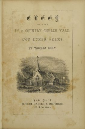 ELEGY WRITTEN IN A COUNTRY CHURCH YARD, AND OTHER POEMS.