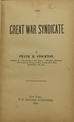 THE GREAT WAR SYNDICATE.