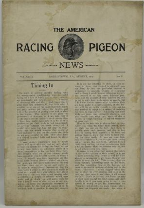 THE AMERICAN RACING PIGEON NEWS. VOL. XLIII. NO. 8. AUGUST 1927