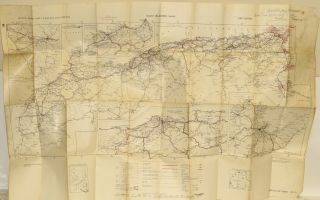 MAP] AFRICA ROAD MAP. MAROC-ALGERIE-TUNISIE. Great Britain War Office
