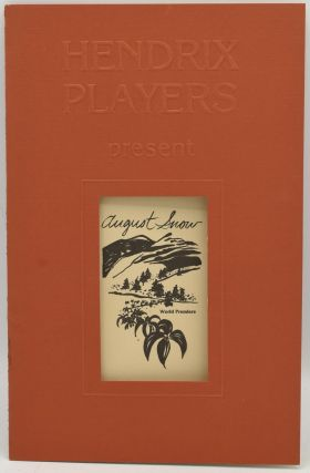 THEATER PROGRAM] AUGUST SNOW. SIGNED. Reynolds Price