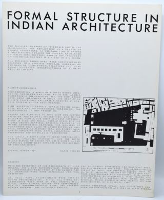 FORMAL STRUCTURE IN INDIAN ARCHITECTURE. Klaus Herdeg