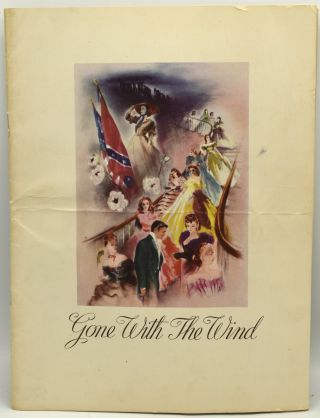 GONE WITH THE WIND. PROMOTIONAL BROCHURE FOR THE MOVIE. WITH FACT SHEET. Metro Goldwyn Mayer