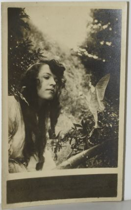 COTTINGLEY FAIRY PHOTOGRAPH #4. FAIRY OFFERING POSY OF HAREBELLS TO ELSIE. SILVER-GELATIN PRINT