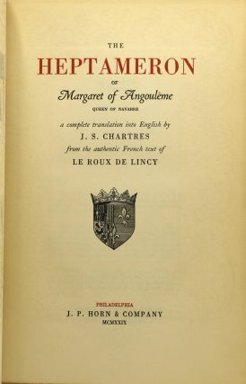 THE HEPTAMERON OF MARGARET OF ANGOULEME (Volume II Only)