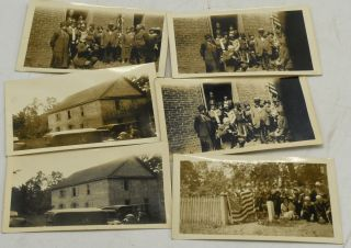 FOUR SNAPSHOTS AND TWO DUPLICATES, OF THE UNVEILING OF THE MARKER FOR 2ND LIEUTENANT SAMUEL...