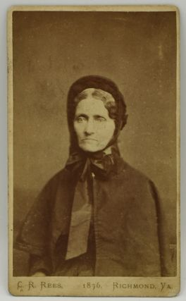 PHOTOGRAPH; VIRGINIA] CARTE DE VISITE [CDV] MARY REBEKAH ALLEN