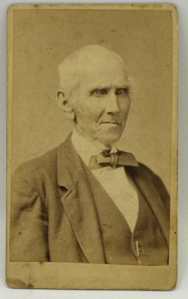 PHOTOGRAPH; VIRGINIA] CARTE DE VISITE [CDV] REV. JAMES M. COFER