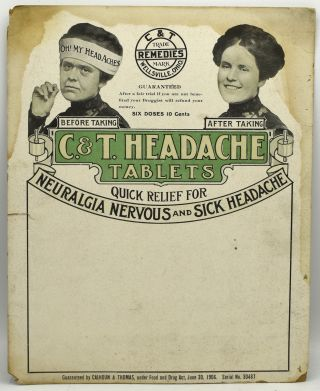 ADVERTISING SIGN] C. &. T. HEADACHE TABLETS