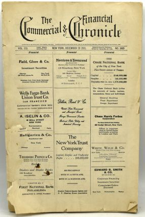 THE COMMERCIAL & FINANCIAL CHRONICLE. VOL. 133. NO. 3469. DECEMBER 29, 1931