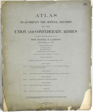 ATLAS TO ACCOMPANY THE OFFICIAL RECORDS OF THE UNION AND CONFEDERATE ARMIES. FASCICLE 28. PART...