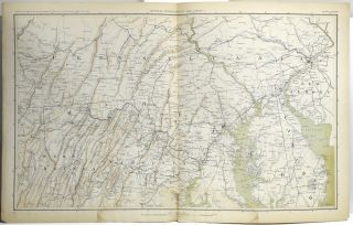 ATLAS TO ACCOMPANY THE OFFICIAL RECORDS OF THE UNION AND CONFEDERATE ARMIES. FASCICLE 28. PART XXVIII. GENERAL TOPOGRAPHICAL MAP OF THE THEATRE OF WAR. PLATE CXXXVI. SHEET 1. PARTS OF PENNSYLVANIA, DELAWARE, DISTRICT OF COLUMBIA, MARYLAND, NEW JERSEY, VIRGINIA, AND WEST VIRGINIA. PLATE CXXXVI. SHEET 2 PARTS OF DELAWARE, DISTRICT OF COLUMBIA, MARYLAND, VIRGINIA, AND WEST VIRGINIA; PLATE CXXXVIII. SHEET 3. PARTS OF NORTH CAROLINA, SOUTH CAROLINA AND VIRGINA; PLATE CXXXIX. SHEET 4. PARTS OF SOUTH CAROLINA AND NORTH CAROLINA. PLATE CXL. SHEET 5. PARTS OF OHIO, PENNSYLVANIA, MARYLAND, KENTUCKY, AND WEST VIRGINIA.