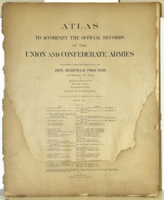 PART 3] ATLAS TO ACCOMPANY THE OFFICIAL RECORDS OF THE UNION AND CONFEDERATE ARMIES. PLATE XI:...