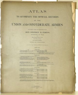 PART 7] ATLAS TO ACCOMPANY THE OFFICIAL RECORDS OF THE UNION AND CONFEDERATE ARMIES. PLATE XXXI...