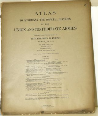 PART 8] ATLAS TO ACCOMPANY THE OFFICIAL RECORDS OF THE UNION AND CONFEDERATE ARMIES. PLATE XXXVI...