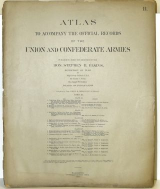 PART 11] ATLAS TO ACCOMPANY THE OFFICIAL RECORDS OF THE UNION AND CONFEDERATE ARMIES. PLATE LI...