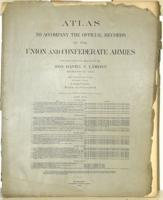 PART 17] ATLAS TO ACCOMPANY THE OFFICIAL RECORDS OF THE UNION AND CONFEDERATE ARMIES. PLATE LXXXI...