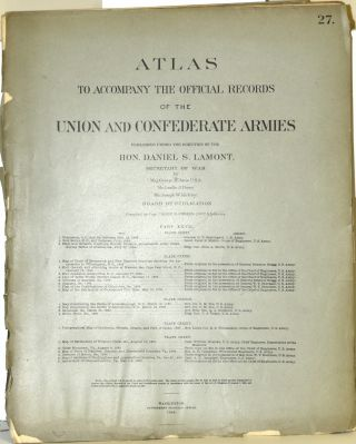 PART 27] ATLAS TO ACCOMPANY THE OFFICIAL RECORDS OF THE UNION AND CONFEDERATE ARMIES. PLATE CXXXI...