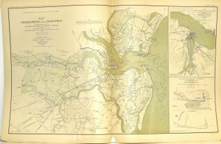 [PART 27] ATLAS TO ACCOMPANY THE OFFICIAL RECORDS OF THE UNION AND CONFEDERATE ARMIES. PLATE CXXXI CHARLESTON ETC. PLATE CXXXII BRUNSWICK ETC. PLATE CXXXIII BATTLE OF AVERASBOROUGH ETC. PLATE CXXXIV TOPOGRAPHICAL MAP OF CALIFORNIA ETC. PLATE CXXXV WILSON'S CREEK ETC.