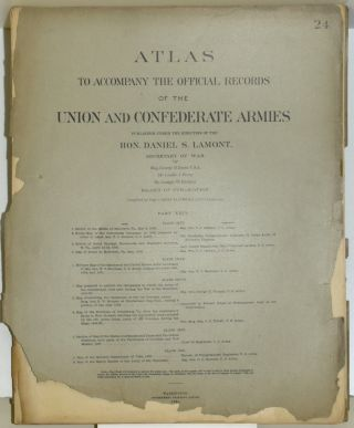 PART 24] ATLAS TO ACCOMPANY THE OFFICIAL RECORDS OF THE UNION AND CONFEDERATE ARMIES. PLATE CXVI...