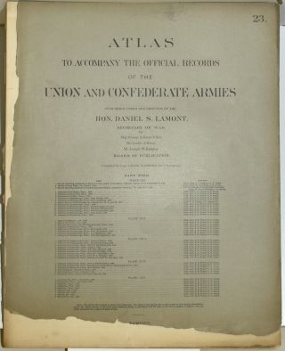PART 23] ATLAS TO ACCOMPANY THE OFFICIAL RECORDS OF THE UNION AND CONFEDERATE ARMIES. PLATE CXI...