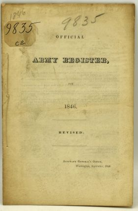 OFFICIAL ARMY REGISTER, FOR 1846. REVISED