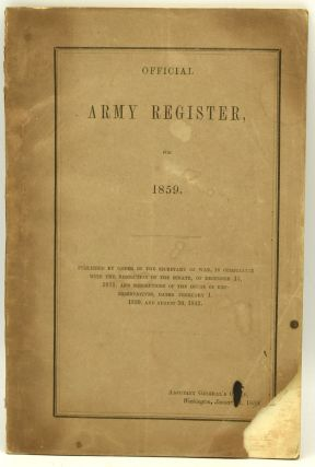 OFFICIAL ARMY REGISTER, FOR 1859