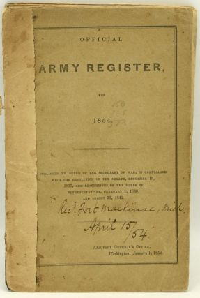 OFFICIAL ARMY REGISTER, FOR 1854